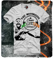 E1SYNDICATE T SHIRT CONOR MCGREGOR UFC MMA BOXING FLOYD MAYWEATHER GREY 2854g