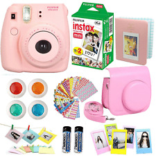 Fujifilm Instax Mini 8 Instant Camera Pink + 20 Film All in One Accessories Kit