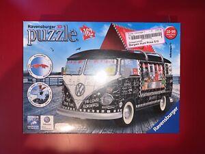 Ravensburger 3D Puzzle Volkswagen T1 Bus 162 Pieces New Sealed VW 12x6x6 COOL 😎