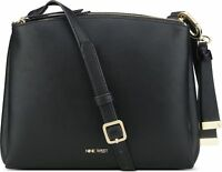 Nine West 💙 NWT $59 Black Levona Crossbody Shoulder Bag Zip Top French Navy SC