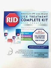 RID LICE TREATMENT COMPLETE KIT 3 STEP PROCESS KIT LICE TREATMENT NEW