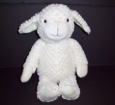 "Hallmark Cream Sheep Lamb Plush 18"" Super Soft Hugs Snuggles Stuffed Animal"