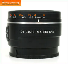 Sony DT 30mm f2.8 SAM Macro Lens + Free UK Postage