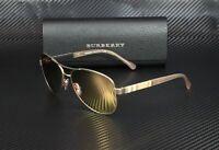 Burberry BE3080 12357J MATTE GOLD BROWN MIRR ROSE GOLD 59 mm Women's Sunglasses