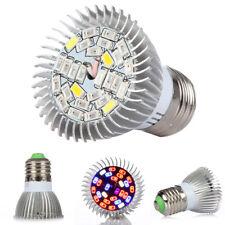 28W E27 LED Crecer Luz Bombilla Espectro Completo UV IR para Plantas Vegetales