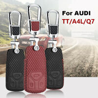 Smart Key Keyless Remote Entry Fob Case Cover with Key Chain For Audi A4L TTS Q7