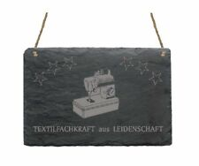 « TEXTILFACHKRAFT AUS LEIDENSCHAFT » Schiefertafel Schild