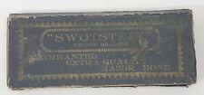 Vintage SWOTSTEIN Tested Quality Razor/Knife Sharpening Hone Stone Warranted