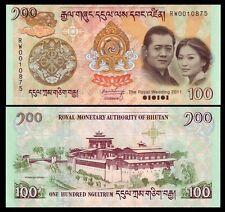 Bhutan 100 Ngultrum 2011 P35 UNC - Commemorative with folder