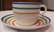 Mikasa Restaurant Quality Cup and Saucer HK003 Color Vibe Freezer Microwave Safe