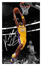 KOBE BRYANT - LA LAKERS AUTOGRAPHED SIGNED A4 PP POSTER PHOTO