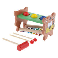 Toddler Wooden Ball Hammer Knock Piano Set Educational Toy Play Activity