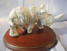 Rhinoceros Soapstone Hand Carved Figural Rhino Figurine