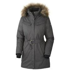 Columbia Alpine Escape Long Down Omni Heat Jacket Fur Hood, Grey $300, L