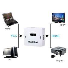 VGA to HDMI Audio Converter Box Adapter for PC Laptop DVD -  Full HD Video 1080P