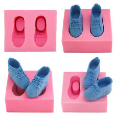 PINK Baby Shoes Fondant Silicone Mould Icing Cake Chocolate Bake Soap Mold