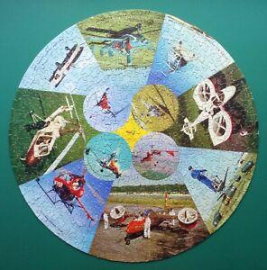 1960s WADDINGTONS CIRCULAR JIGSAW PUZZLE UNUSUAL AIRCRAFT BP PETROLEUM COMPLETE