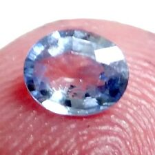 NATURAL OVAL-CUT LIGHT BLUE SAPPHIRE LOOSE GEMSTONE 5 x 4.1 mm UNHEATED SAPPHIRE