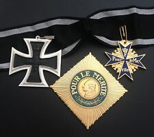 MUSEUM QUALITY WWI BLUE MAX , GRAND CROSS STAR AND ORDER OF THE IRON CROSS LOT