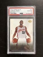 2003 Upper Deck Box Set LeBron James Rookie Card RC #12 - PSA 10