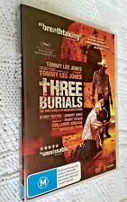 THREE BURIALS – DVD, 2-DISC SET, R-4, LIKE NEW,  FREE POST WITHIN AUSTRALIA