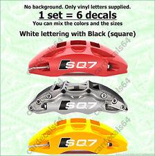 6 X Audi SQ7 Brake Caliper Decal Sticker Wheels Door Handle Emblem Logo Vinyl  I