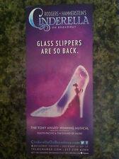 Cinderella  musical ad/flyer Rodgers + Hammerstein Broadway NYC Laura Osnes
