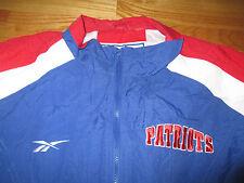 Vintage Reebok Pro-Line NEW ENGLAND PATRIOTS Zippered (XL) Jacket