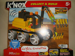 K'Nex Subject Construction Shovel Exclavatrice Box 243 Pièces Of 5 Years New