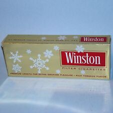 2 1960s Winston Premium Filter Christmas Cigarette Carton Sleeves VG+ Gold EMPTY