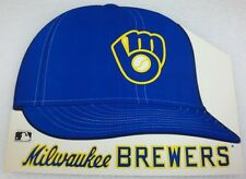 (4) 1983 Milwaukee Brewers Cardboard Hat Display Sign Promo Giveaway Old Logo