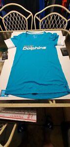 Miami Dolphins Womens Nike NFL Team Apparel dri-fit shirt  S