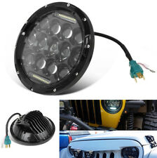 "7"" 75W LED DRL Light Headlight High/Low Beam H4 Waterproof for Jeep Wrangler CJ"