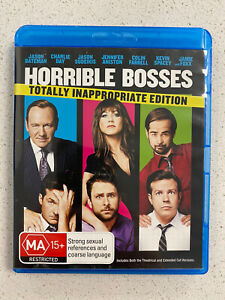 Horrible Bosses (Blu-ray, 2012) Kevin Spacey, Donald Sutherland, Colin Farrell