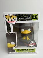 Funko Pop! The Simpsons Treehouse Of Horror #1032 The Raven Bart Special Excl.