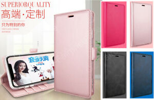 Samsung Galaxy S10 Plus Genuine Leather Flip Wallet Card Case Cover