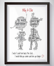Personalised Girlfriend Gay Couple Wedding Engagement Anniversary  A4 Print Gift