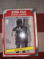 ORIGINAL 1980 TOPPS STAR WARS FILE THE EMPIRE STRIKES BOBA FETT ROOKIE CARD #11