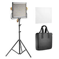 Neewer 2 Pack 480 LED Dimmable Panel Video Light with Carrying Bag