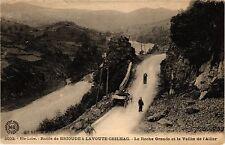 CPA  Hte-Loire - Route de Brioude á Lavoute Chilhac - La Roche Grande...(203145)