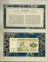 *Most Treasured Banknotes Azerbaijan 1 Manat 1992 UNC P-11 Prefix A/1