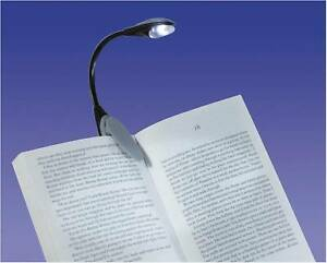 Flexible Portable Clip On LED Reading light Lamp Clip Kindle Hudl Book Black