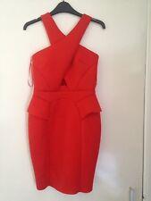 Brand New Red Orange River island Dress Size 8