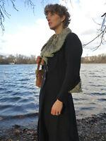 30er antik Damen Mantel blau Pelz TRUE VINTAGE 30s handcrafted coat with fur