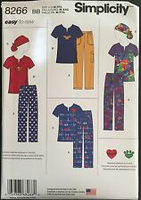 Simplicity Sewing Pattern 8266 Misses/Womens Scrubs Uniform Hat Sizes 14-26 EASY