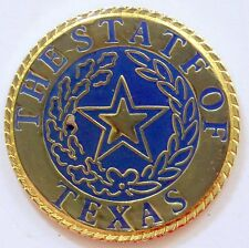 State of Texas Pin Seal Circle Hat Tie Tack Lonestar State Jacket Lapel