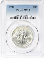 1946  Walking Liberty Silver Half Dollar - PCGS MS-64 - Mint State 64