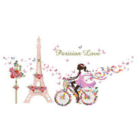DIY Wall Sticker Tower Bike  Home Room Removable Fairy wall decals Fresh