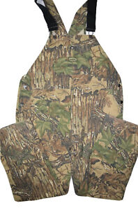 Vintage Spartan Realtree Camouflage Overalls Mens 44x34 Hunting 50/50 Bibs