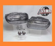 1999-2003 Jeep Grand Cherokee Front Clear Bumper Fog Lights Lamps w Bulbs